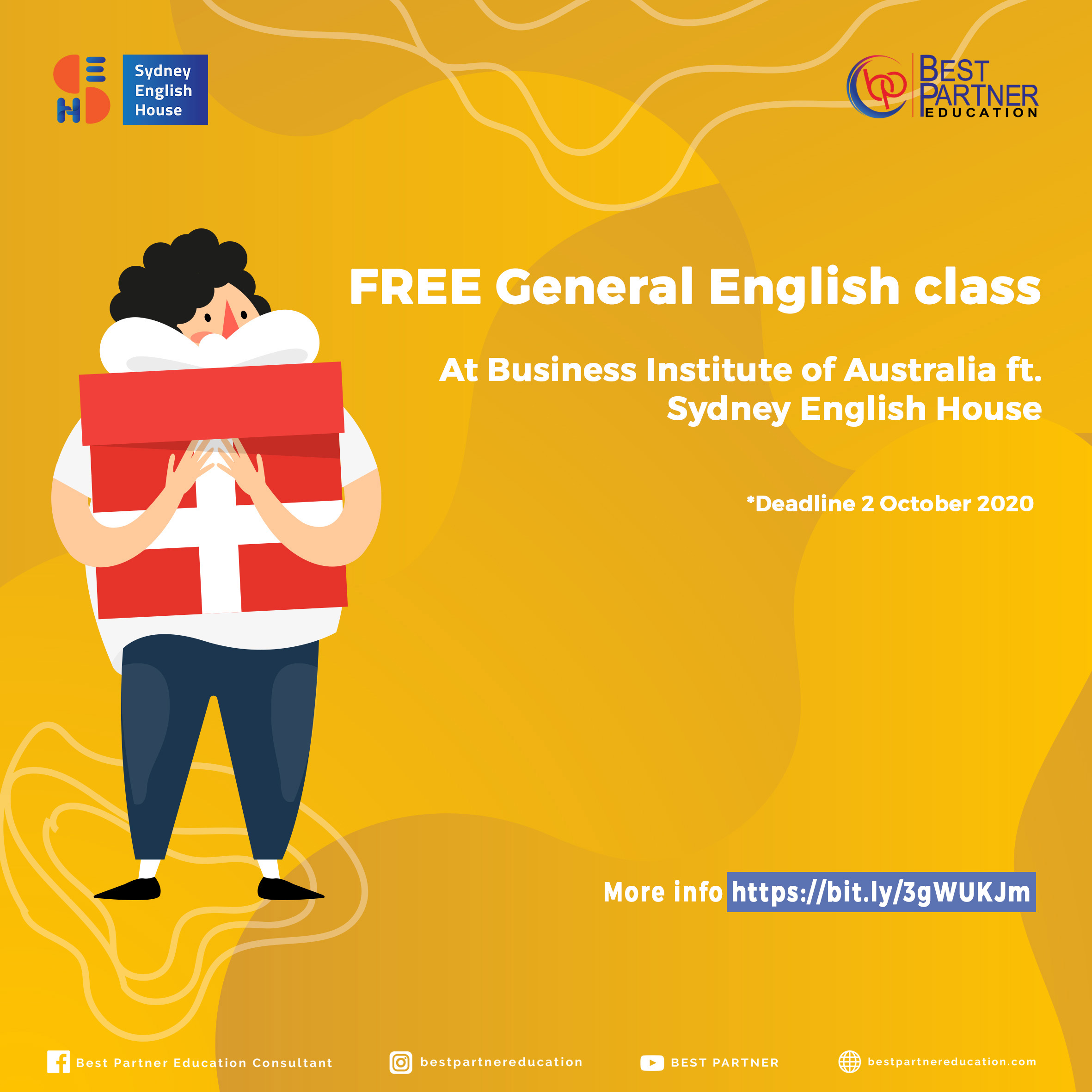 Business Institute of Australia ft. Sydney English House. FREE General English Class!