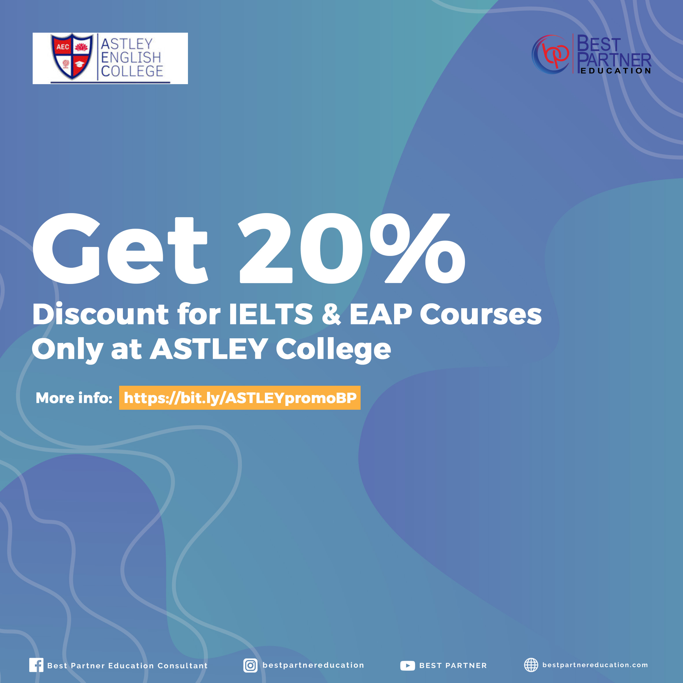 Get 20% Discount for IELTS & EAP Courses Only at ASTLEY College