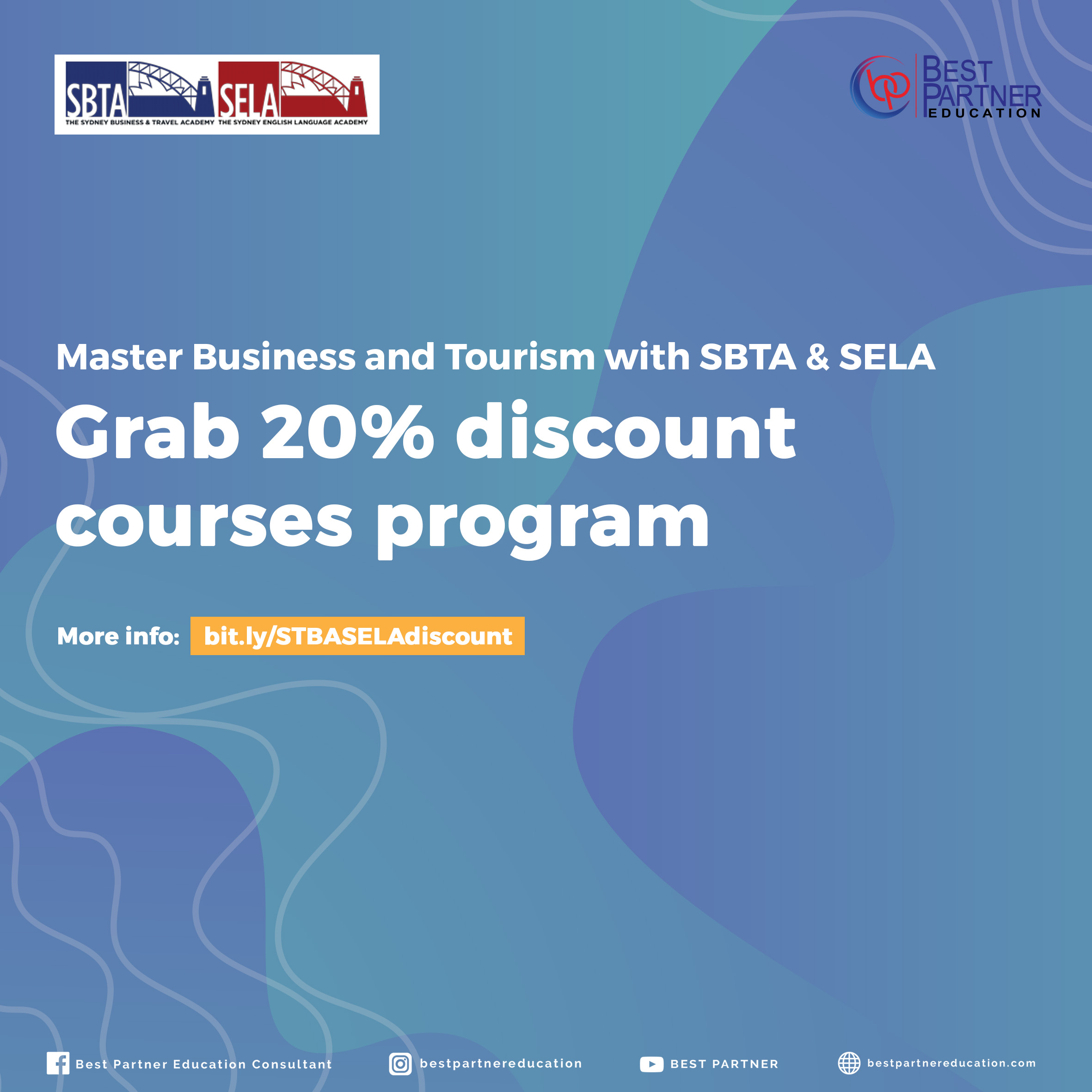 Master Business and Tourism with SBTA & SELA! Grab 20% discount courses program