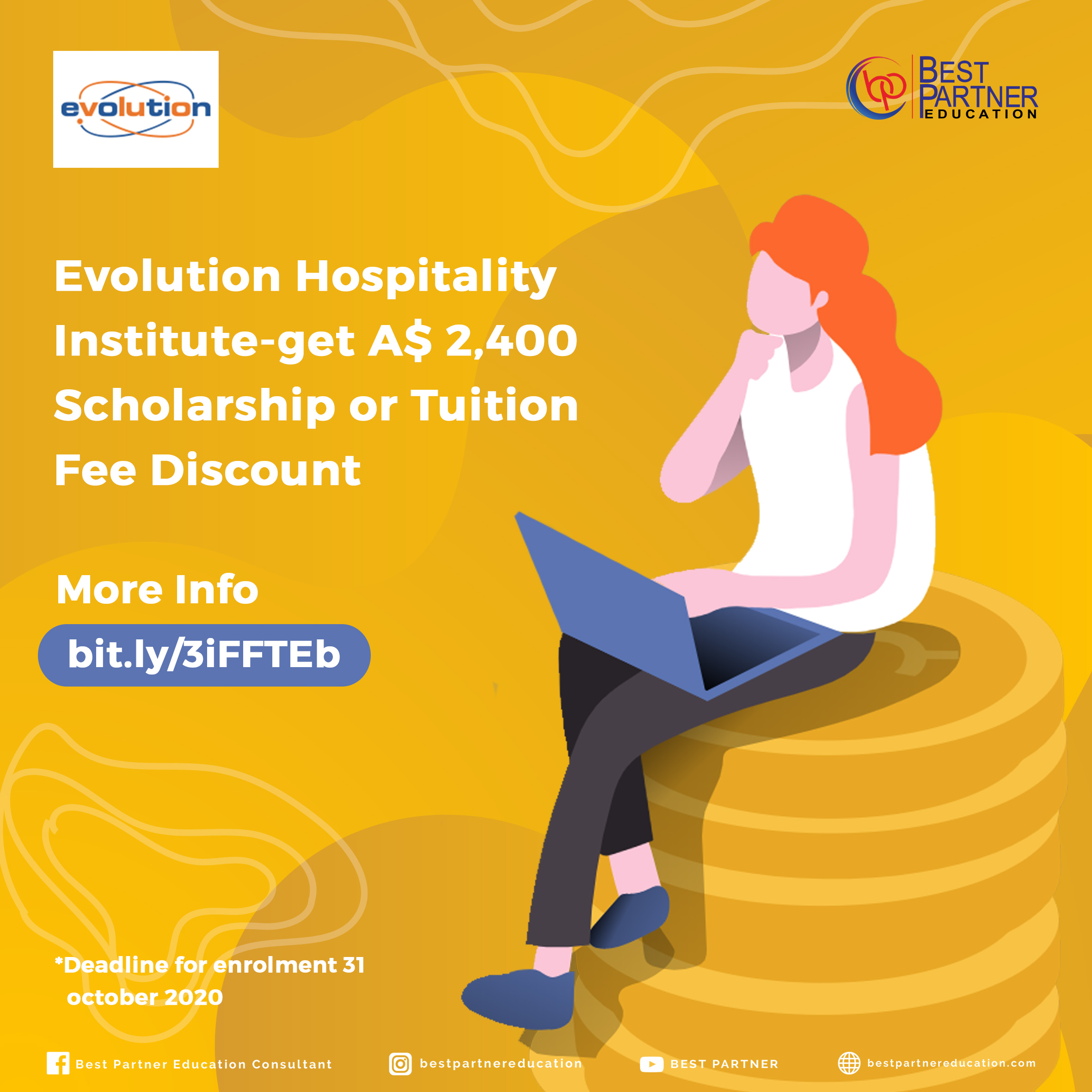 Evolution Hospitality Institute-get A$ 2,400 scholarship or tuition fee discount